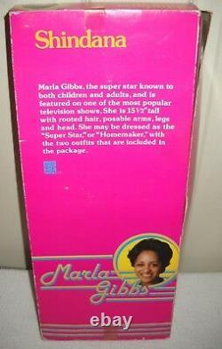 #10080 NRFB Vintage Shindana 15 1/2 Marla Gibbs African American Celebrity Doll