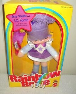 #10225 NRFB Vintage Mattel Rainbow Brite Shy Violet & IQ Sprite Doll