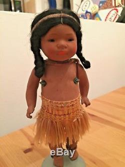 10 Heubach German Doll 444 Mulatto African American Black BV$650 Great Cond
