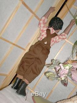 12 inch Kish jointed African American boy WILLY' 1995 signed by Helen Kish