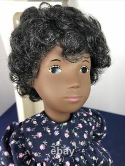 16 Vintage Sasha Doll #118 Cora Flower Dress Brunette Brown Eyes Girl AA MIB