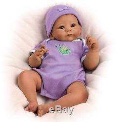 17 Tasha Edenholm Sweet Pea So Truly Real Weighted Baby Doll AFRICAN AMERICAN D