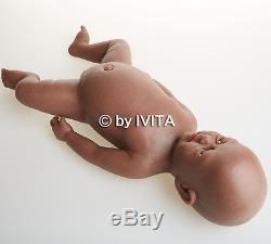 18'' African American Black Reborn Baby Doll Girl Newborn Lifelike Baby Toy Gift