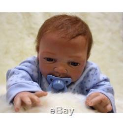 18'' African American Ethnic Lifelike Reborn Baby Doll Body Silicone Newbon Boy