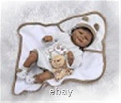 18 Newborn Boy Dolls African Black Reborn Baby Dolls Soft Body Realistic Touch
