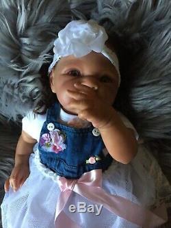 18 Reborn Realistic Baby Girl vinyl AA Adrienne Stoete Carmen Sculpt