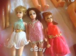 1960's Vintage Lot Midge Barbie Mattel African American Black Ideal Doll Redhead