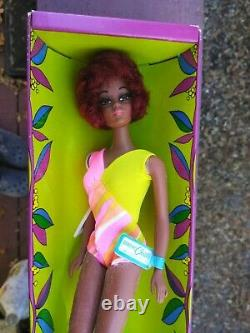 1968 BARBIE CHRISTIE DOLL 1119 TNT MINT OSS Never Removed from Box Wrist Tag