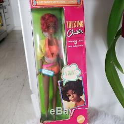 1969 TALKING Christie Barbie Doll Vintage 1960's Black African american doll