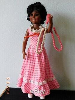 1974 AA TWIRLY BEADS CRISSY Doll Rare Hairdo Dangle African American Ideal MIB