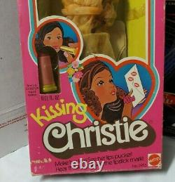1976 Mattel 2955 Kissing Christie Barbie AA in box the doll who kisses