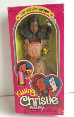 1978 Vintage Kissing Christie A A Barbie Doll NRFB 2955 Mattel with Lipstick NEW