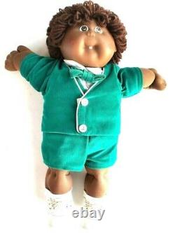 1980s Vintage Cabbage Patch Kids African American Twins Green Dolls Boy Girl