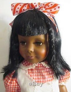 1981 Ideal African American Patti Playpal Doll, Black Hair, Brown Eyes