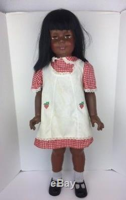 1981 Ideal Patti Playpal Doll, 35 African American Plaid Dress 35-5 G-35 H-346