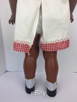 1981 Ideal Patti Playpal Doll, 35 African American Plaid Dress 35-5 G-35 H-346