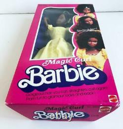 1981 Magic Curl AA Barbie Doll African American NRFB Steffie Face Superstar Era