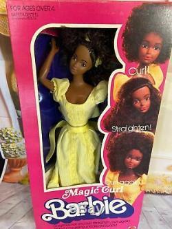 1981 SUPERSTAR ERA Magic Curl Christie BARBIE Mattel #3989 NIB, NRFB, NEW