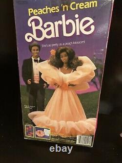 1984 PEACHES'N CREAM Barbie Doll withACCESSORIES AA MIB