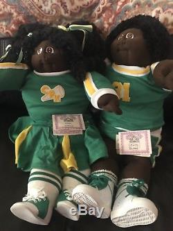 1984 Sport Cabbage Patch Soft Sculpture Twin Set African American Cheerleader