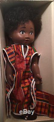 1985 African American 21 Baby Whitney Doll Kente Design Dress Head Wrap Lomel
