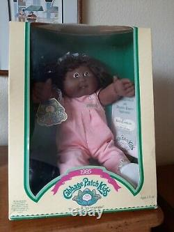 1985 Cabbage Patch Kids Doll African American Black girl NIB Jerrie Francine BOX