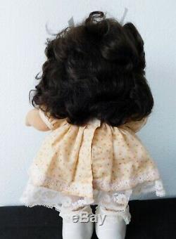 1985 MY CHILD DOLL HISPANIC Brown Hair, Brown Eyes Peach Party Dress MIB