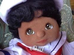 1985 Mattel MY CHILD African American Twin Dolls