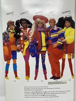 1990 MATTEL BARBIE UNITED COLORS OF BENETTON CHRISTIE # 9407 African American