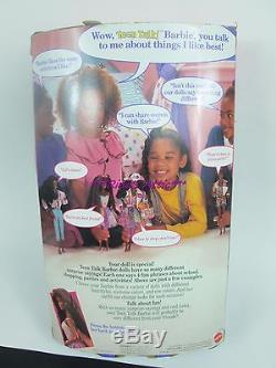 1991 Mattel TEEN TALK African American AA Barbie Doll #1612 SAYS MATH IS TOUGH