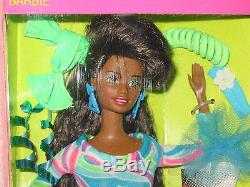 1991 Totally Hair Barbie Black African American Doll NIB w Dep Styling Gel