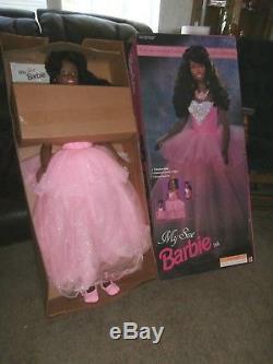 1993 Mattel My Size 3 Ft Tall Barbie Doll African American Black Mib! #11212