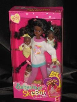 1994 African American Skipper AA BABYSITTER Baby Sitting 3 Babies NRFB 12072
