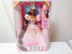 1997 DISNEY RAPUNZEL Barbie By MATTEL 18164 African American / Black Doll Nrfb