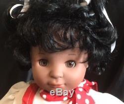 19 GOTZ African American Black DOLL= Shes a cutie