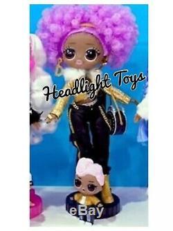 1 LOL Surprise 24K D. J. DJ WAVE 2 OMG 10 Fashion Doll Winter Disco Series RARE