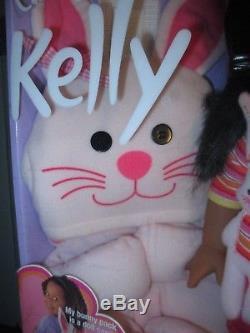 2000 Barbie MISB 16 Cuddly Soft Kelly Doll Bunny African American Mattel