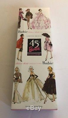 2003 45th Anniversary Barbie Doll Black African American Silkstone NRFB G7216