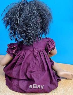 2003 Pamela Erff Porcelain Sitting African American Doll Bear Hugs LE200