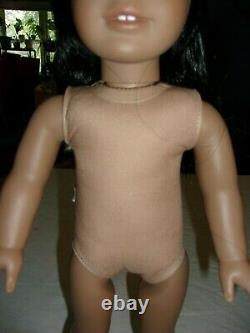 2008 AMERICAN GIRL DOLL JLY #11 BLACK HAIR BROWN EYES Nude Medium Skin HTF
