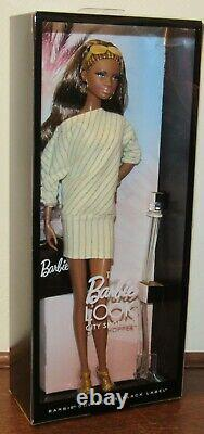 2012 The Barbie Look City Shopper Doll African-American #X8257 NRFB Black Label