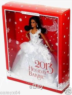 2013 Barbie Collector 25th Anniversary Holiday Doll African-American