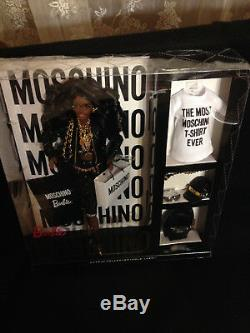 2015 Moschino Jeremy Scott Barbie Doll African American NRFB (DNJ32) EXCELLENT