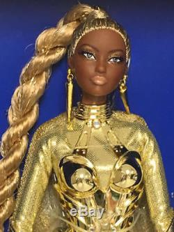2017 Barbie Convention Platinum Label Golden Galaxy Aa African American Doll