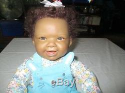 20'' Ashton Drake Waltraud Hanl Reborn Baby doll African American Floral