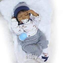 22 African American Reborn Baby Boy Doll Vinyl Newborn Baby Preemie Lifelike