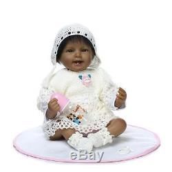 22 African American Silicone Vinyl Realistic Reborn Lifelike Newborn Baby Doll