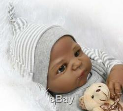 22 Biracial Reborn Baby Dolls Boy Black African American Baby Dolls Realistic