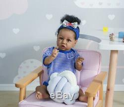 22 Full Silicone Baby Doll Biracial Reborn Toddler Girl Black African American