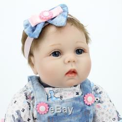 22 Lifelike Reborn Baby Vinyl Silicone Girl Dolls Handmade Birthday Gifts Toys